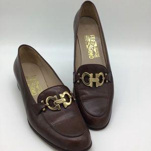 Salvatore Ferragamo Brown Loafers Size 8.5 4A